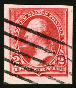 #249 VAR 1894 2c Carmine Lake Rare Imperf Used