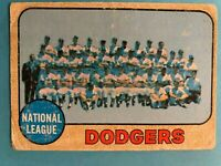 1967 Topps Baseball Card #168 Los Angeles Dodgers Team Checklist