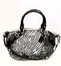 EUC Coach Madison Sophia Lurex Zebra Jacquard Tote Bag Purse Satchel 15925