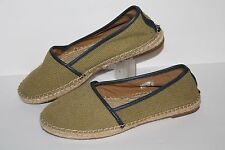 Fossil Flat Casual Shoe, #4243345, Olive/Navy, Women's US Size 8.5