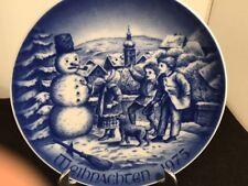 WEIHNACHTEN1979 BAREUTHER Waldsassen BAVARIA GERMANY CHRISTMAS porcelain PLATE