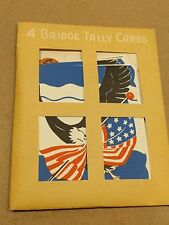 """#Lot of (4) VINTAGE TALLY SCORE CARDS Unopened """"Eagle"""" 3.3 x 4.5"""""""