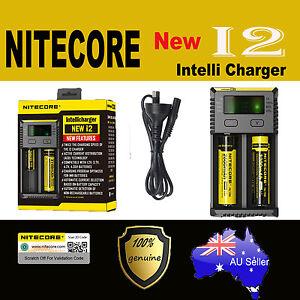 Nitcore NEW I2 Smart Universal Battery charger IMR Li-Ion LiFePO4 NiMH-Cd 18650