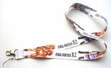 Final Fantasy X-2 White Color Fabric Keychain Lanyard