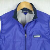 PATAGONIA Size Small Womens Full Zip Blue Mock Collar Lightweight Polyester Vest