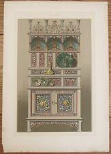 1890 Anton Seder print Jugendstil Plants in Fine Art 15x21 Die Pflanze Vienna