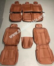 2015 2018 Ford F 150 Xlt Super Crew Custom Mahogany Leather Seat Covers Upgrade Fits Ford F 150
