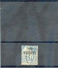 TAHITI Sc 22(YT 24)AVG-FINE USED, 1893 15c BLUE, $100