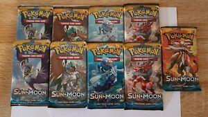 Sun and Moon base set Booster Packs 1/4 box