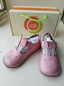 Livie and Luca Pink Molly Bunny Mary Jane Leather Shoe Size 10  08018C