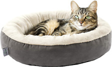 LoveS Cabin Round Donut Cat And Dog Cushion Bed, 20In Pet Bed For Cats Or Small