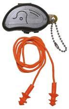 Tapones naranja de estilo militar con cordon y caja. Protección contra el ruido
