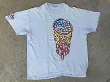 Vintage 80's Santa Cruz Jason Jessee SkateBoarding T-Shirt Skate tee Blue