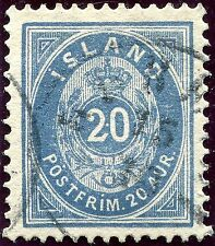 Used Postage Icelandic Stamps