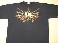 Flyleaf Concert Tour T-Shirt Girl on a Bridge Black size XL