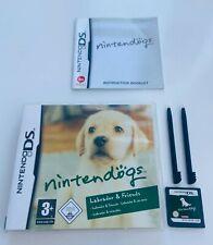 Nintendogs Labrador & Friends - Nintendo DS Video Game DSi XL 2DS 3DS - COMPLETE