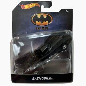 NEW - Mattel Batman 1989 Movie Series Hot Wheels Diecast Metal Batmobile -Black