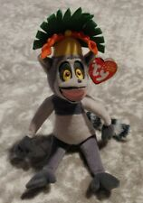 Ty Beanie Baby - KING JULIEN the Lemur 2010 (Madagascar Movie) NEW WITH TAGS