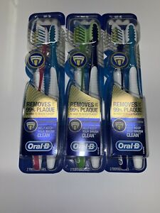 3x Oral-B Pro Health Vitalizer Advanced Toothbrushes Soft Bristle 2 Pack