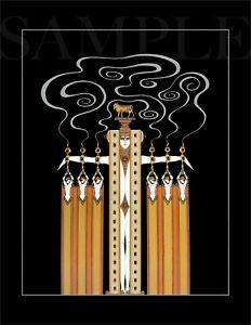 8.5x11 Vintage Erte Romain de Fine Art Deco Color Print Picture Poster Women
