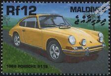 1966 PORSCHE 911S Mint Automobile Sports Car Stamp (2000 Maldives)