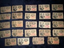 COLLECTION OF *24* 25 TWENTY FIVE CENTS FIFTH ISSUE FRACTIONAL CURRENCY NOTES