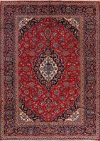 Excellent Floral Vintage Ardakan Hand-Knotted Area Rug Traditional Carpet 8'x11'