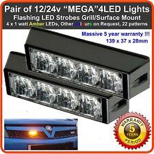 2x 4 LED 12V 24V Gelbe Rundumleuchte Blinkende Lichter Erholung Lichtbalken