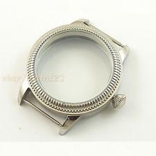 44mm Sterile watch case 316L steel fit  Seagull ST36 eta 6497/6498 movement P123