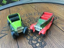 2 small used vintage Tonka cars / jeeps toys  metal / plastic made in the USA