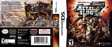 Metal Slug 7 Nintendo DS Replacement Box Art Case Insert Cover Scan Reproduction