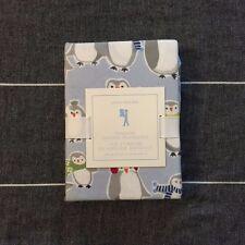 New Pottery barn kids Penguin flannel pillowcase blue