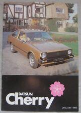 1980 Datsun Cherry Brochure Pub.No. S24.50M.V.A280.I/80GF