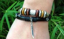 Latest Fashion, cool multilayer leather wrist band unisex Ancient Tribal Symbol