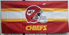 """NFL FOOTBALL KANSAS CITY CHIEFS 53X26"""" BANNER/TABLE COVER NEW IN PKG. LOT (10)"""