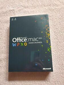 Microsoft Office Mac 2011 Home & Business Sealed 1 User / 2 Macs