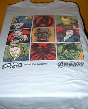 "Adult Marvel ""Avengers Squared"" T-Shirt - XLarge - New -Licensed Red Baron Pizza"