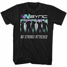 Nsync Blue Purple T Shirt Mens Licensed Rock Pop Music Band Tee Retro New Black