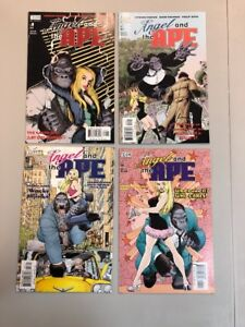 Angel And The Ape 1-4 Full Set ALL Signed Howard Chaykin 1 2 3 4 DC Comic (AA01)