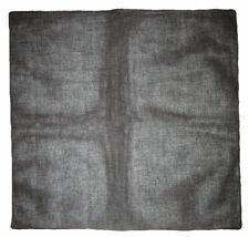 """22""""x22"""" Black Plain Solid Color 100% Cotton Bandana"""