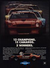 1978 CHEVROLET CAMARO Z28 - Race Car Driver AL UNSER - 12 Champions - VINTAGE AD