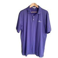 Peter Millar Cotton Golf Polo Men's Purple Shirt Embroidered  Sz XL
