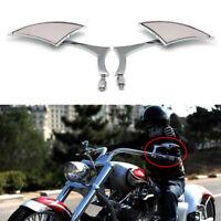 Chrome Blade Motorcycle Rear View Side Mirrors For Suzuki Boulevard C50 M109R AU