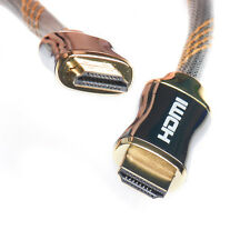 WGGE HDMI Cable 2.0 High speed ( 18 Gbps), Nylon braiding, Gold metal Plated