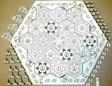 Settlers of Catan Board Game Engraved with Frame and 19 Hexagons
