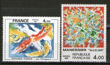 SERIE TIMBRES 2168-2169 NEUF XX LUXE - TABLEAUX DE PIGNON ET MANESSIER