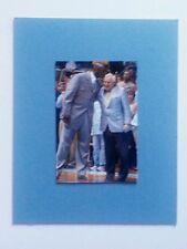 UNC TAR HEEL MICHAEL JORDAN GIVING COACH DEAN SMITH A KISS OF RESPECT MATTED PIC