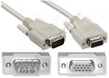 Lot4 15ft SVGA/VGA Male-Female Extension Monitor/Video/TV/LCD/LED Cable$SHdisc{L