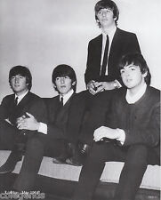 "BEATLES   May 1964 in LONDON    8""x10""  B & W  Photo Copy BEA-17"