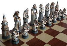Ajedrez Exclusivo ajedrez FANTASÍA Pintado a mano 58 x 58 cm KH 115 mm Mármol
